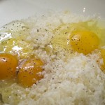 Uova, parmigiano e pepe