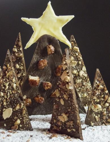 Foresta d'alberi di Natale di cioccolata