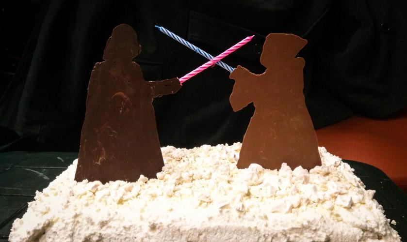 Cake Design: il duello finale fra Obi Wan Kenobi e Darth Vader in cioccolata