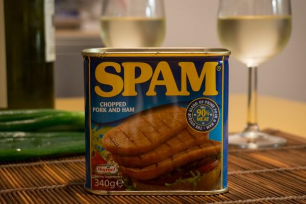 Una scatola di spam